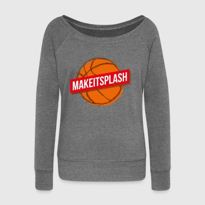Make it splash - Women's Boat Neck Long Sleeve Top