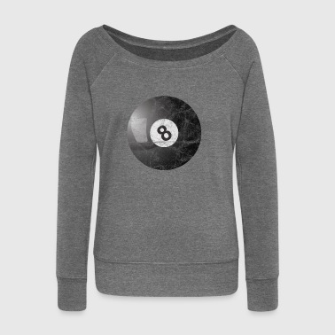 Billiard Ball Billiard Ball Gift Pool Billiard - Women's Boat Neck Long Sleeve Top