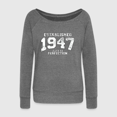 established 1947 - aged to perfection (it) - Felpa con scollo a barca da donna, marca Bella