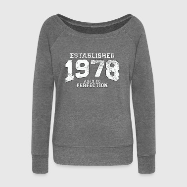 established 1978 - aged to perfection (uk) - Women's Boat Neck Long Sleeve Top