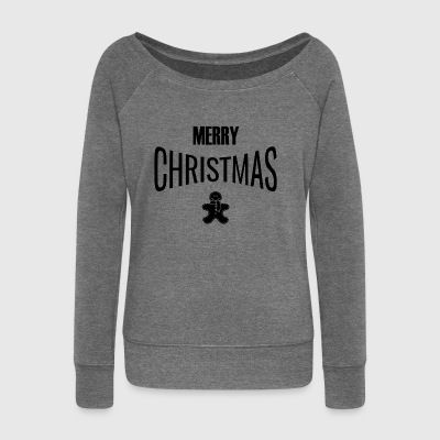 MERRY CHRISTMAS - Women's Boat Neck Long Sleeve Top