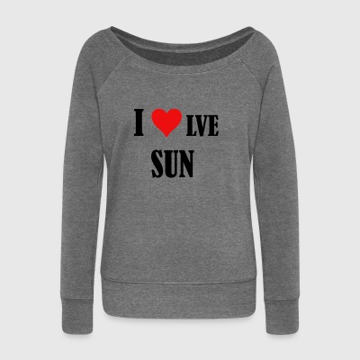 I Love Sun - Women's Boat Neck Long Sleeve Top
