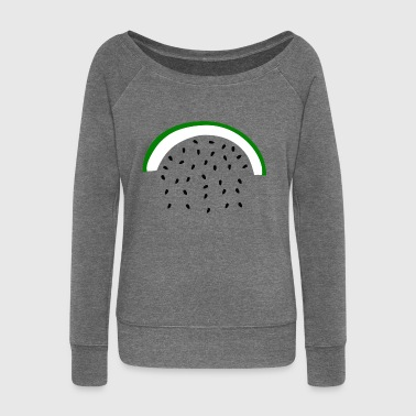watermelon - Women's Boat Neck Long Sleeve Top