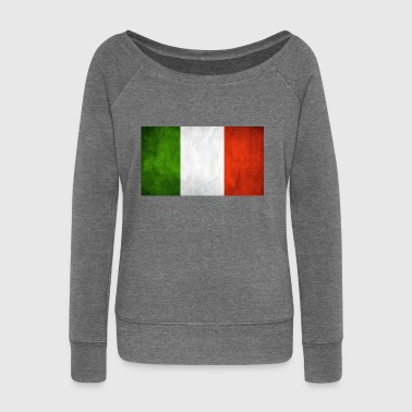 Italian flag - Women's Boat Neck Long Sleeve Top