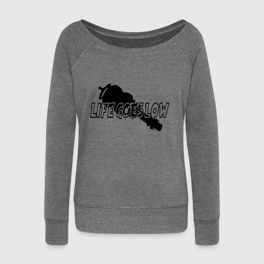 LIFE GOES LOW - Women's Boat Neck Long Sleeve Top