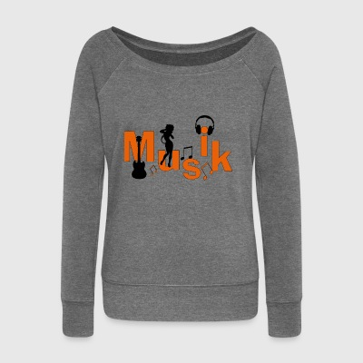 music - Women's Boat Neck Long Sleeve Top