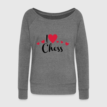 2541614 15899810 chess - Women's Boat Neck Long Sleeve Top