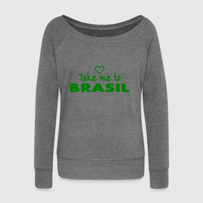 BRASIL - Brazil Brazilian - Women's Boat Neck Long Sleeve Top