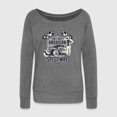 SPEEDWAY AMERICAN HOTRODS - Hot Rod Gift - Women's Boat Neck Long Sleeve Top