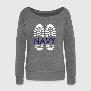 Navy *BEST SELLER* - Women's Boat Neck Long Sleeve Top