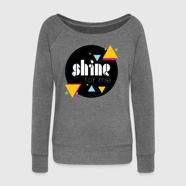 Shinee - shine for me - Women's Boat Neck Long Sleeve Top