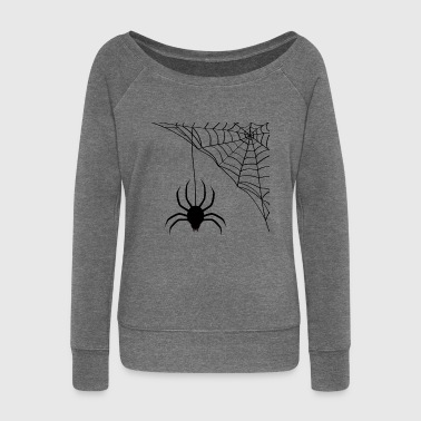 spider - Women's Boat Neck Long Sleeve Top