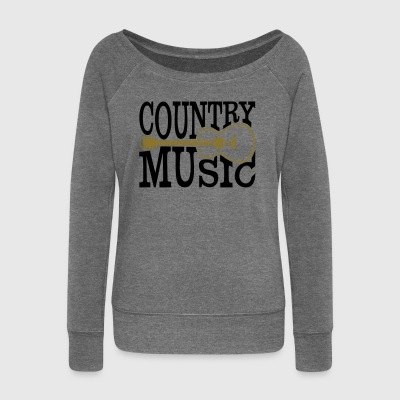 Country music - Women's Boat Neck Long Sleeve Top