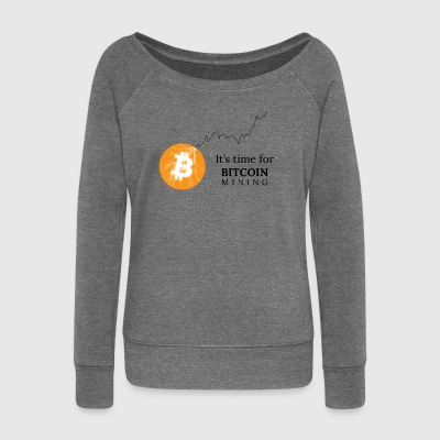 Bitcoin Mining - Women's Boat Neck Long Sleeve Top