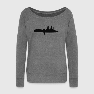 razor - Women's Boat Neck Long Sleeve Top