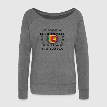 I AM GENIUS BRILLIANT CLEVER SRI LANKA - Women's Boat Neck Long Sleeve Top