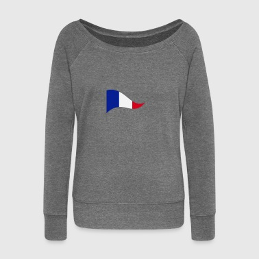 France France drapeau drapeau national Couleurs Paris - Pull Femme col bateau de Bella