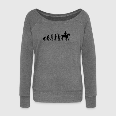 Evolution to the rider T-shirt gift - Women's Boat Neck Long Sleeve Top
