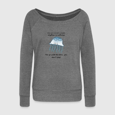 blue jellyfish gift sea gift idea - Women's Boat Neck Long Sleeve Top