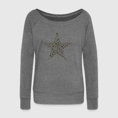 Stars Medellin Brands Star Star Star - Women's Boat Neck Long Sleeve Top