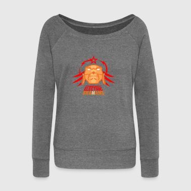 communist electric shamans - Women's Boat Neck Long Sleeve Top