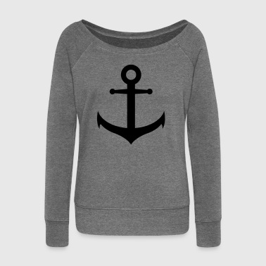 anchor - Women's Boat Neck Long Sleeve Top