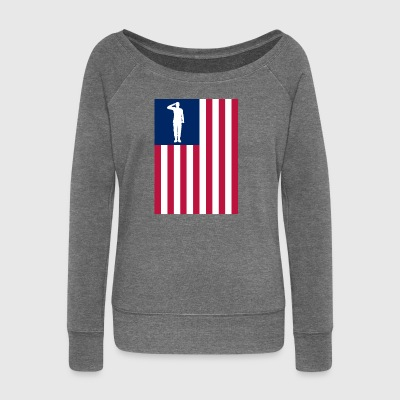 America Patriot - Women's Boat Neck Long Sleeve Top
