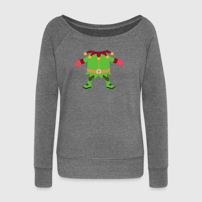 Christmas Elf Costume - Women's Boat Neck Long Sleeve Top