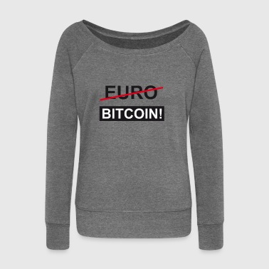 Euro Bitcoin - Women's Boat Neck Long Sleeve Top