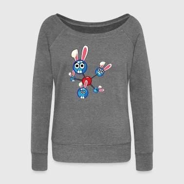Physics Atom Easter Bunny Easter Gift Bunny - Women's Boat Neck Long Sleeve Top