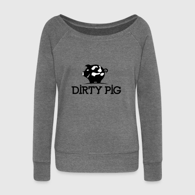DIRTY PIG - Women's Boat Neck Long Sleeve Top