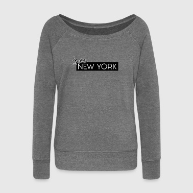 NEW YORK Love di HermzCollection - Felpa con scollo a barca da donna, marca Bella