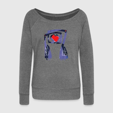 Love birds - Women's Boat Neck Long Sleeve Top