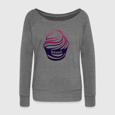 Cupcake - Women's Boat Neck Long Sleeve Top