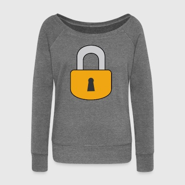 Lock padlock Locked love - Women's Boat Neck Long Sleeve Top
