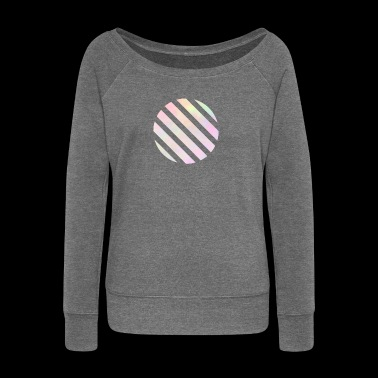 Rainbow geometric - Women's Boat Neck Long Sleeve Top