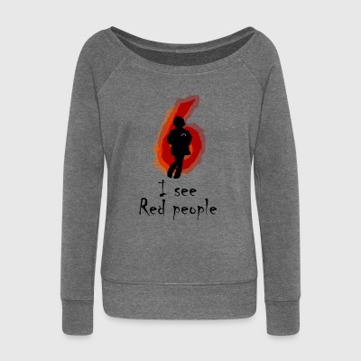 I See Red People - Women's Boat Neck Long Sleeve Top