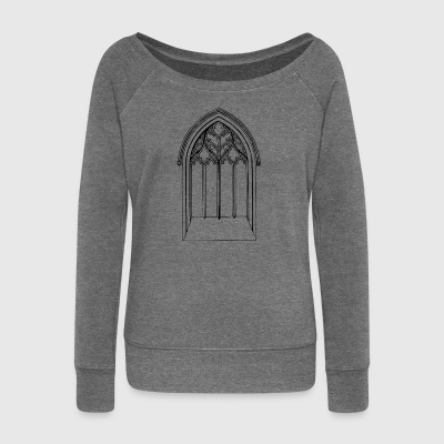 Church window - Women's Boat Neck Long Sleeve Top