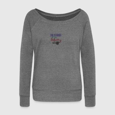 Skilled enough to become an infantry - Women's Boat Neck Long Sleeve Top