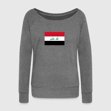 National Flag Of Iraq - Women's Boat Neck Long Sleeve Top