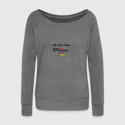 Are you from Kenya - Women's Boat Neck Long Sleeve Top