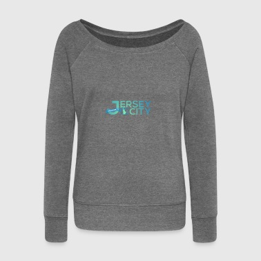 Jersey City Logo - Women's Boat Neck Long Sleeve Top