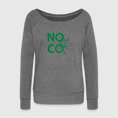 NO CO2 - cyclist and cyclist design - Women's Boat Neck Long Sleeve Top
