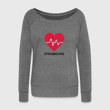 heart Strasbourg - Women's Boat Neck Long Sleeve Top