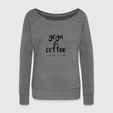 Yoga & coffee - Women's Boat Neck Long Sleeve Top