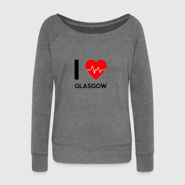 I Love Glasgow - I love Glasgow - Women's Boat Neck Long Sleeve Top