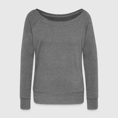 The journey is the reward (gray) - Women's Boat Neck Long Sleeve Top