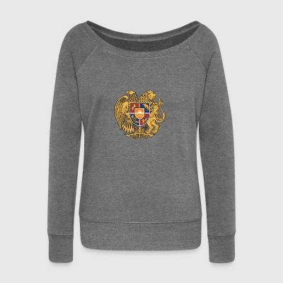 Armenia emblem - Women's Boat Neck Long Sleeve Top