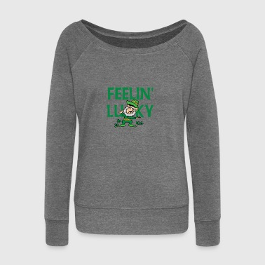 Irish Luck - Women's Boat Neck Long Sleeve Top