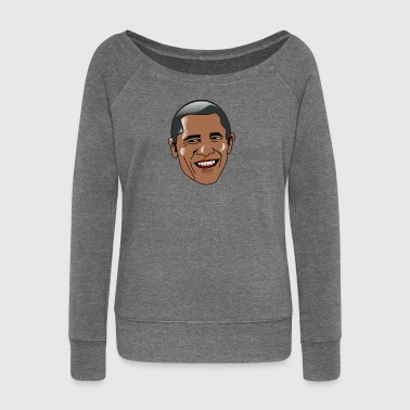 Barack Obama - Women's Boat Neck Long Sleeve Top